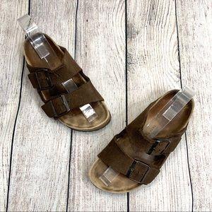 Birkenstock Soft Footbed Brown Slip On Sandals